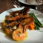 King prawns at Bistro 22, in Accra, food near me