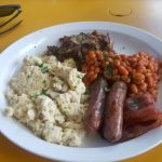English breakfast at Cafe Kwae, in Accra