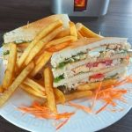 Club sandwich at Paloma Restaurant in Accra, restaurants in accra