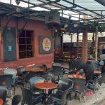 Outside the Republic Bar Accra
