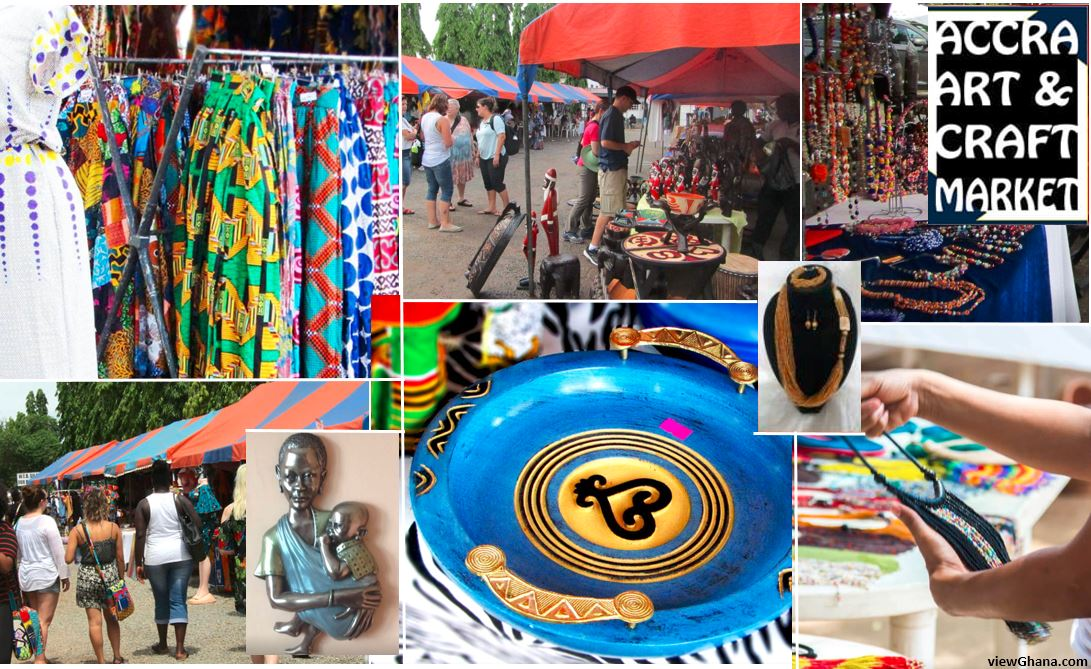 Accra Art & Craft market at the Du Bois centre in Accra from