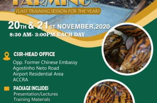 Snail Farming Course (last training session of the year)